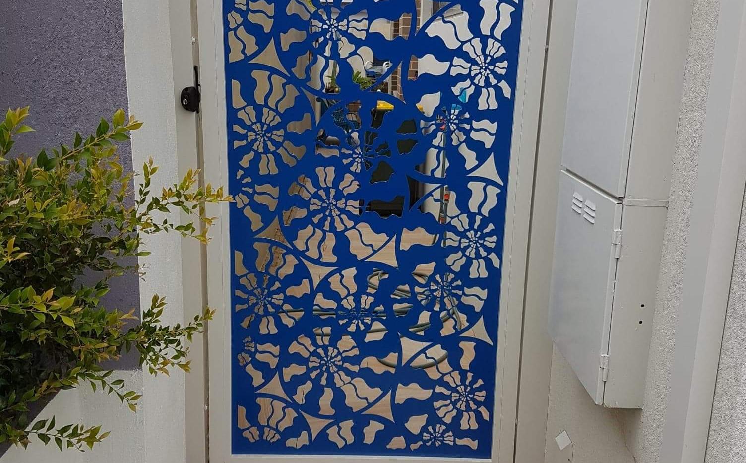Aluminium Fence - Blue