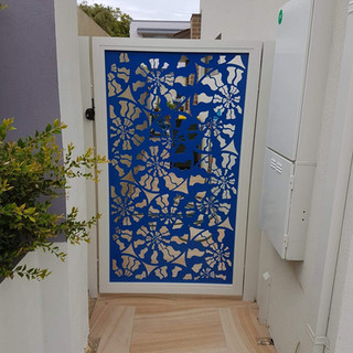 Classic Aluminium Perth - Custom Made Aluminium Lazer Cut Decorative Gate