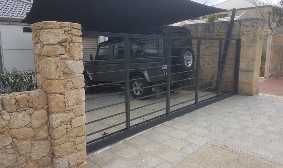 Automatic Gate -  Open Slats
