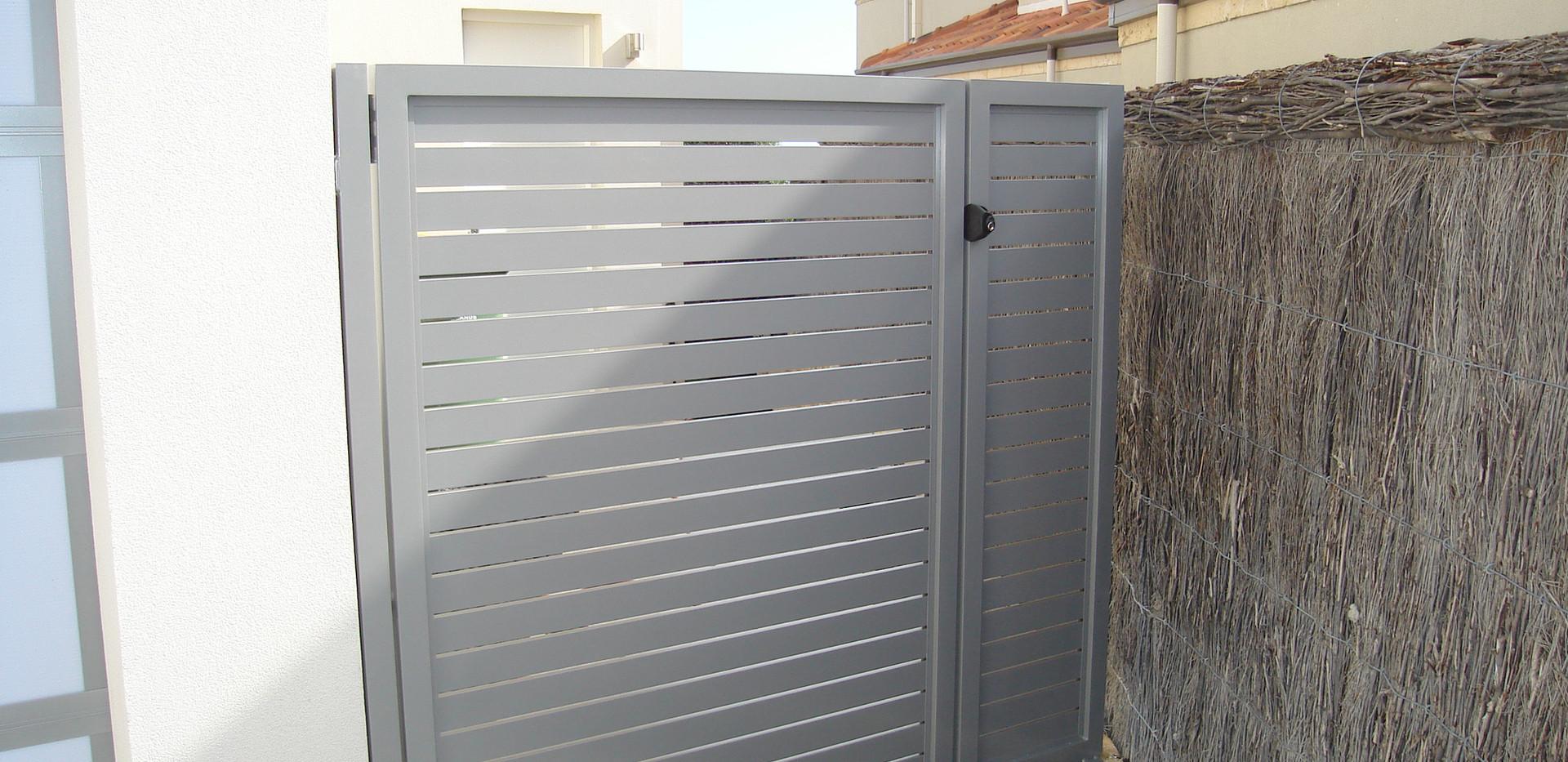 Aluminium Fence - Grey