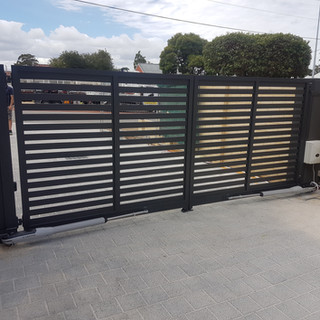 Classic Aluminium Perth - Custom Made Automatic Black Driveway Gate