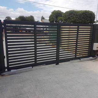 Classic Aluminium Perth - Custom Made Automatic Black Driveway Gate