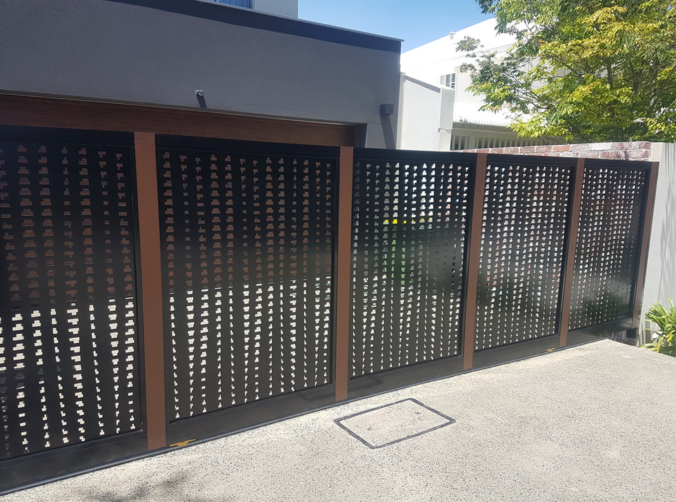 Black Lazer Cut Fence for front of house - Custom made by Classic Aluminium