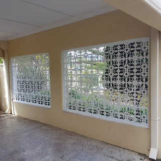 Classic Aluminium Perth - Custom Made Lazer Cut Outdoor Screen