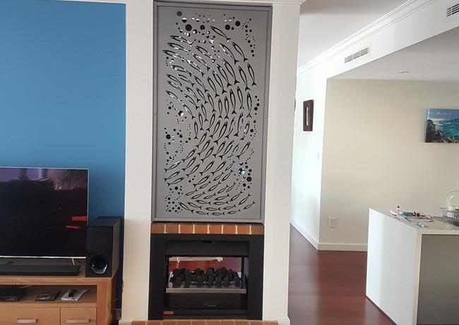 Classic Aluminium - Inside above fireplce
