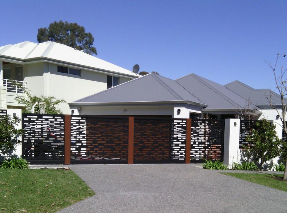 Black Lazer Cut Fence - Custom made by Classic Aluminium
