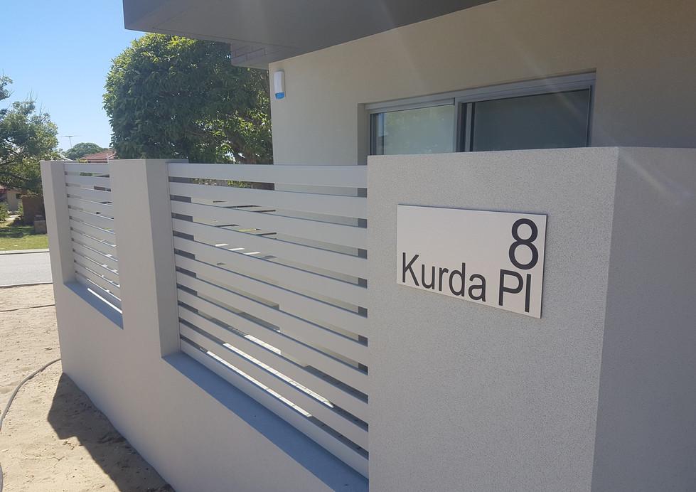 Light Grey Slat Fence - Custom made by Custom Aluminium Perth