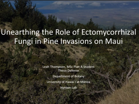 Leah Thompson defends her MSc research