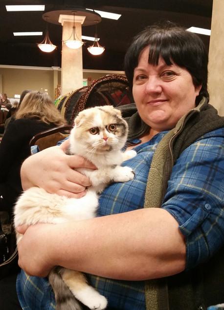 Tasya and my beloved mama at the show