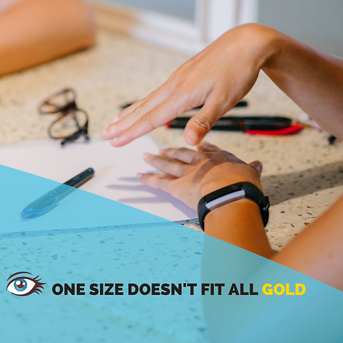 One Size Doesn't Fit All (Gold) | Resume, LinkedIn, Interview, Coaching | ALL Writing On Us!