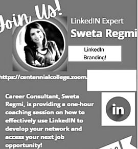 Sweta Regmi, Founder & CEO, Career Consulant, Canada as a guest speaker in Centennial college for LinkedIn Branding