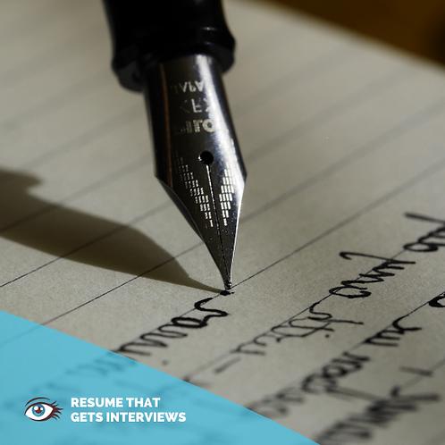 Resume Writing By Resume Writer