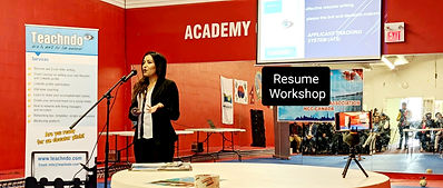 Sweta Regmi, Career Consultant, Founder & CEO of Teachndo at Workshop session with Newcomer to Canada in the Community Canada.
