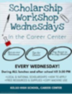 Scholarship Workshop Wednesdays Flyer.jp