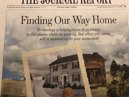 Finding Our Way Home, WSJ Encore
