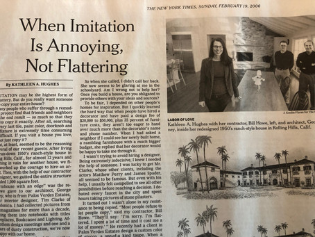 When Imitation is Annoying, Not Flattering, New York Times Real Estate Section
