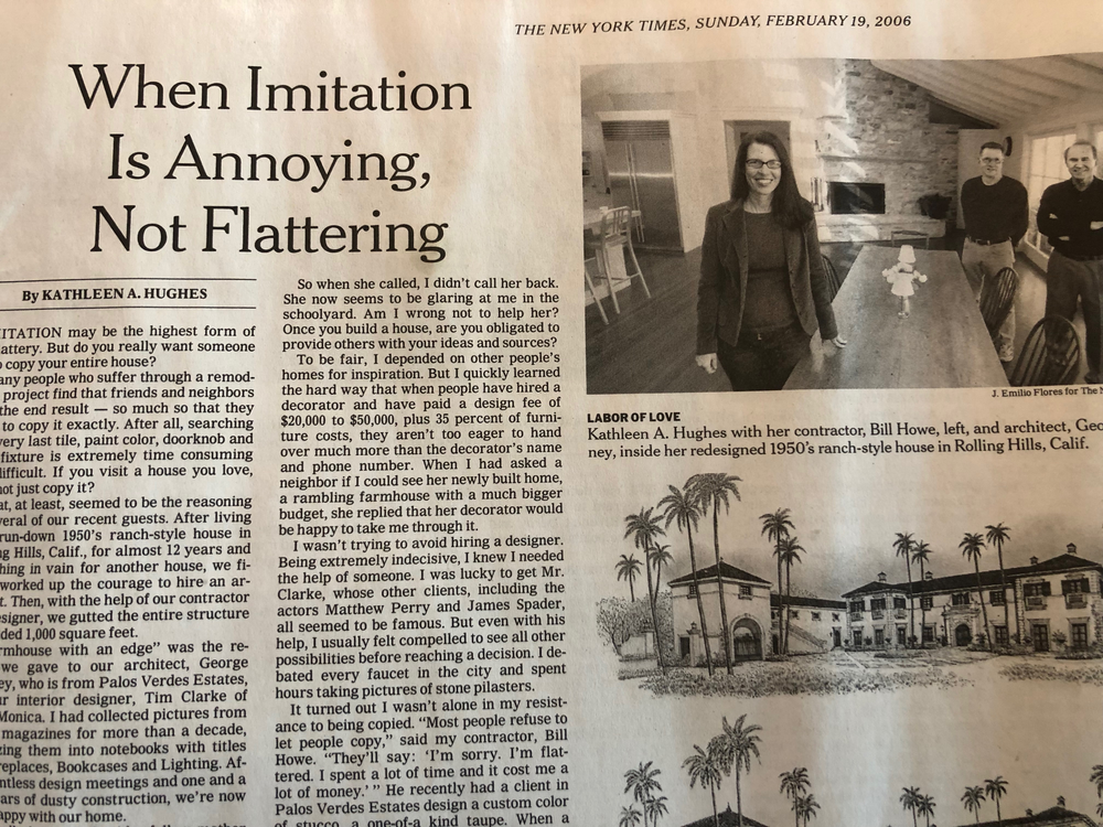When Imitation is Annoying, Not Flattering, New York Times
