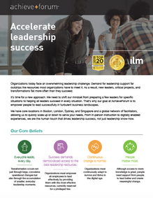 AchieveForum corporate one-pager