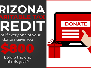 AZ Charitable Tax Credit - Foster Care Tax Credit = $1800 This Year?
