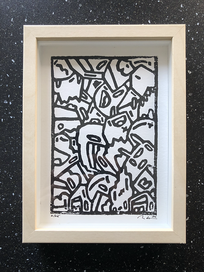 """Hand Carved Collector's Edition Print 5x7"""""""
