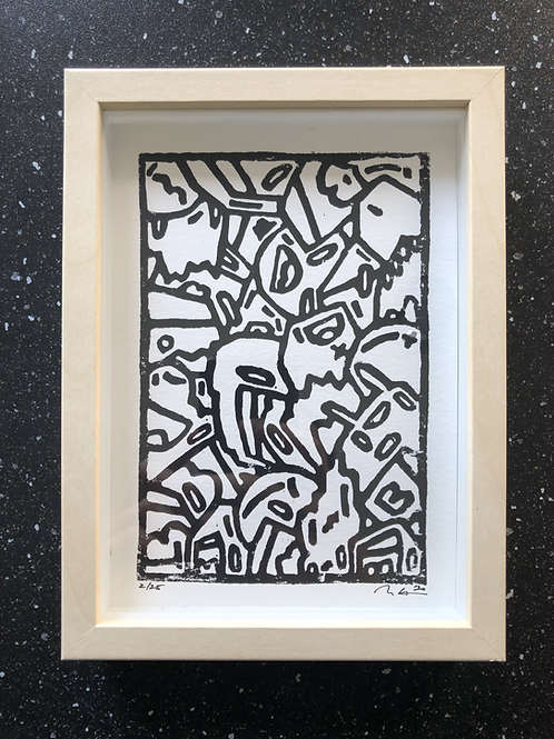 Hand Carved Collector's Edition Print 5x7""