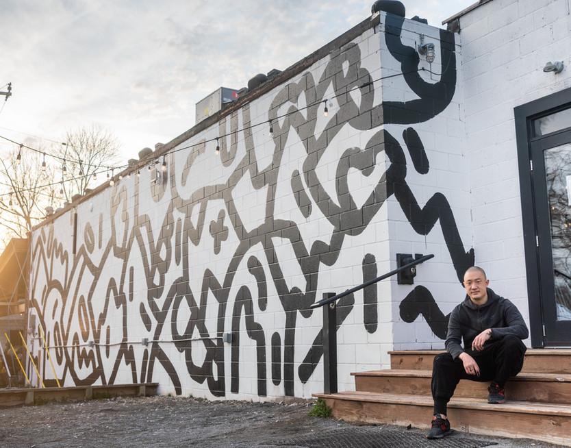 Mural at York in Ann Arbor, 2021