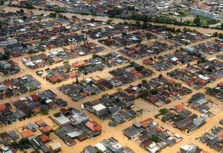 Enchentes x Permeabilidade do solo