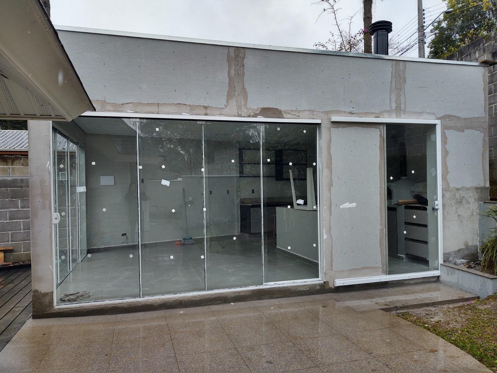 Construção_Churrasqueira_drywall_siding
