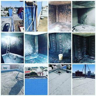Impermeabilização Manta Asfáltica Caixa d´água em Curitiba 2 - Fecci Engenharia - Edif Jos