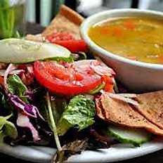 House Salad with Chili or Soup of the day