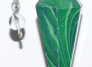 6-sided Malachite pendulum
