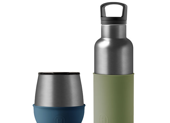 Titanium Grey Bottle and Tumbler Set