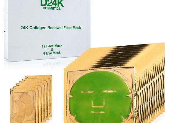 18-in-1 Collagen Renewal Face & Eye Mask Set (1 Year Supply)