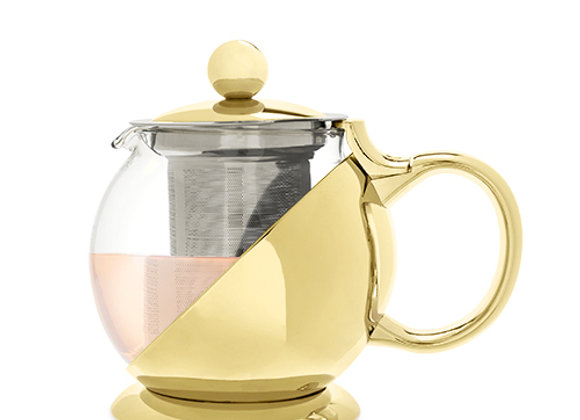 Shelby™ Gold Wrapped Teapot & Infuser by Pinky Up®