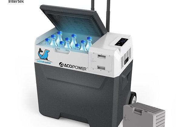 ACOPOWER LionCooler X50A Combo, 52 Quarts Solar Freezer & Extra 173Wh
