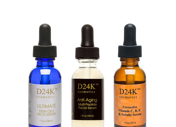Complete D24K Serum Collection - Ultimate Stem Cell Neck Serum /