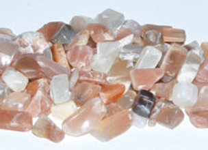 1 lb Moonstone tumbled chips 5-9mm