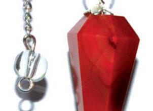 6-sided Red Carnelian pendulum