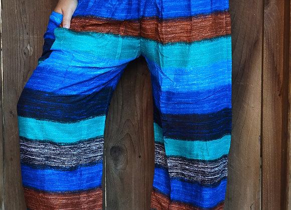Stripe Boho Pants Hippie Pants Yoga Pants Harem