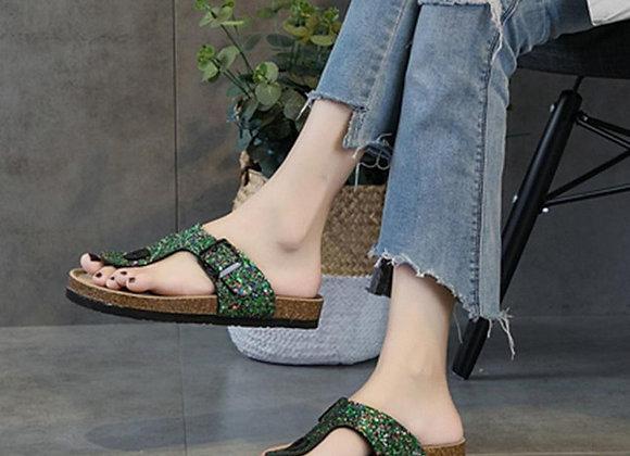 Fashion Sandals Womens Cross Toe Double Buckle
