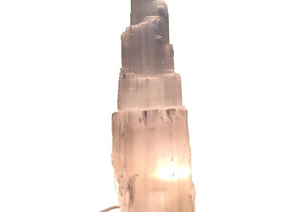 Selenite Skyscraper Lamp