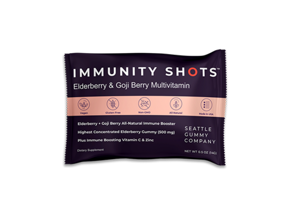 Immunity Shots Elderberry and Goji Berry Multivitamin (12-Pack)