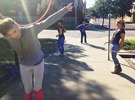 Hula hoops on the Strip
