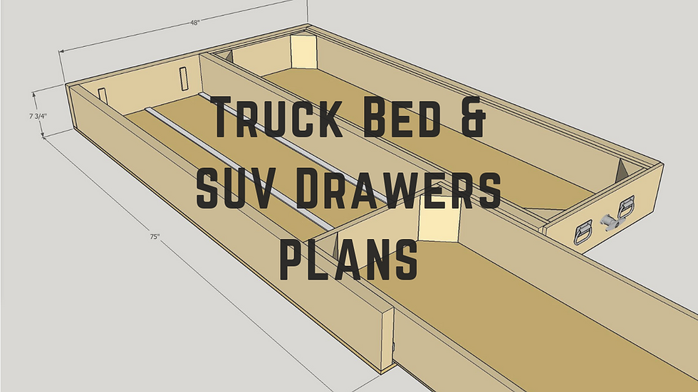 Truck Bed Drawers & SUV Drawers Plans