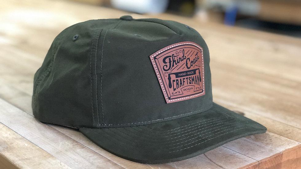 "Olive Drab ""Grandpa"" Snap-back Hat w/ TCC Leather Patch"