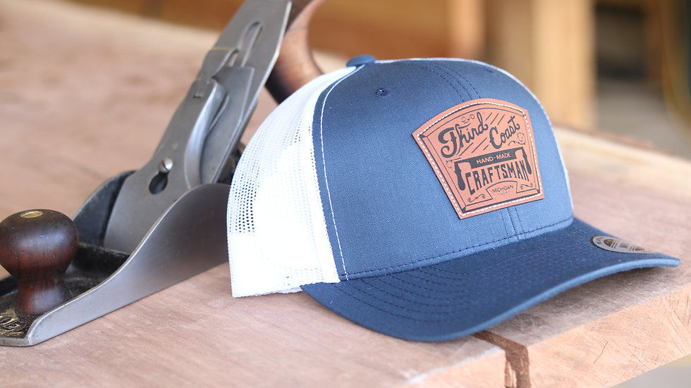TCC Leather Patch Navy/White Snap-Back Hat