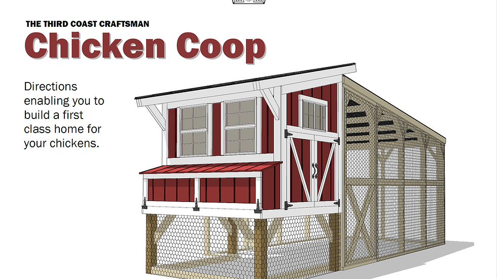 Chicken Coop and Run Plans