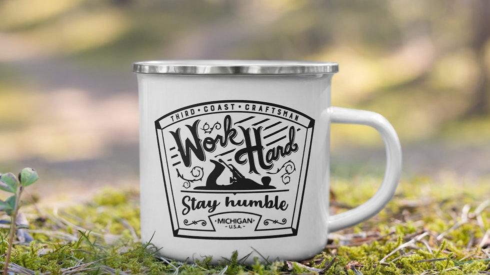 Work Hard Stay Humble Enamel Mug