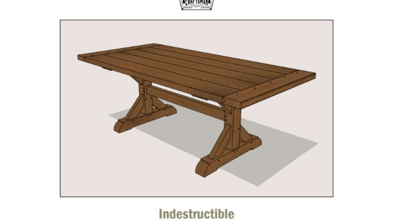 Heirloom Trestle Table Plans