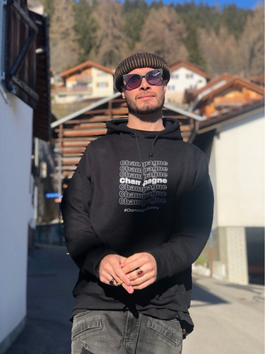 "Koncept in the ""Champagne Thank You"" Hoodie in Switzerland"